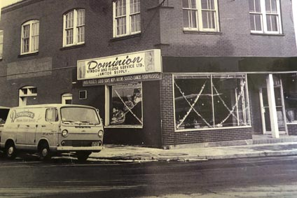 vintage photo of domclean's building in 1960