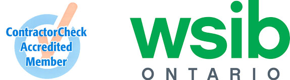 wsib logo with ContractorCheck Accredited Member